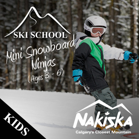 nakiska ski school MINI NINJAS