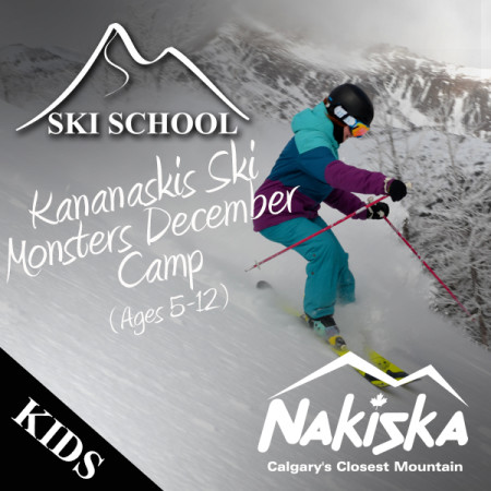nakiska snow school Kananaskis december